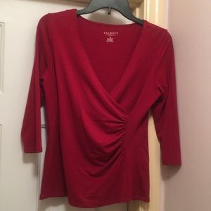 Talbots wrap T-shirt SP Red